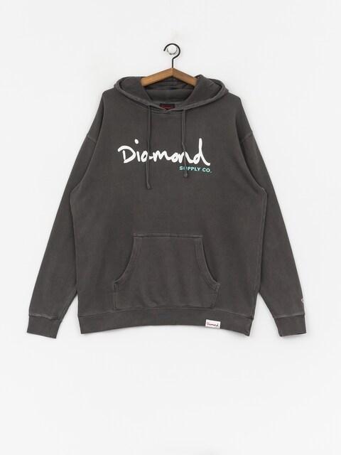 Bluza Diamond Supply Co. Og Script Pigment Overdye (black)