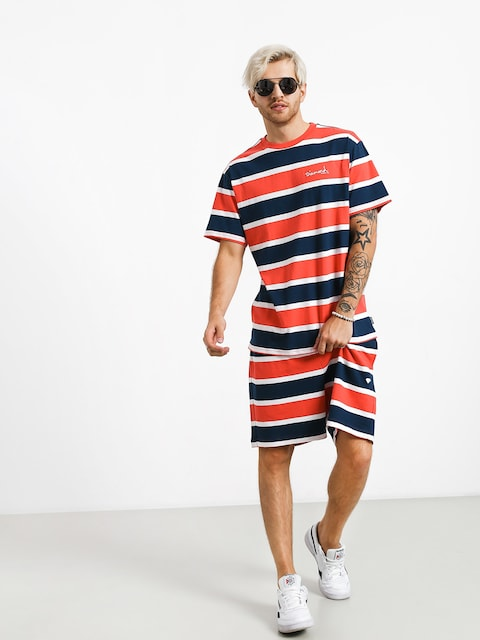 Szorty Diamond Supply Co. Mini Og Script Striped (coral)