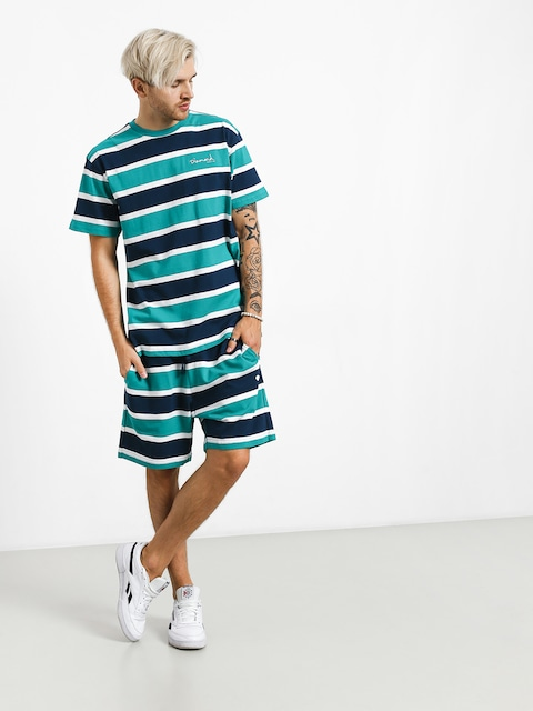 Szorty Diamond Supply Co. Mini Og Script Striped (teal)