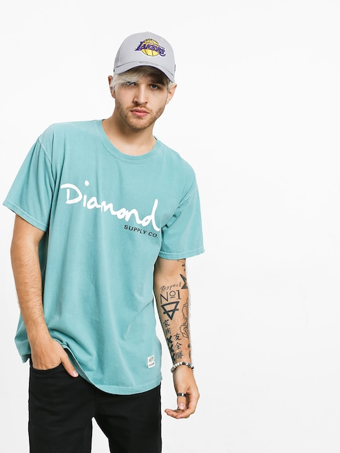 T-shirt Diamond Supply Co. Og Script Overdye