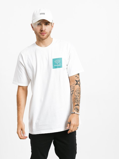 T-shirt Diamond Supply Co. Mini Og Sign (white/green)