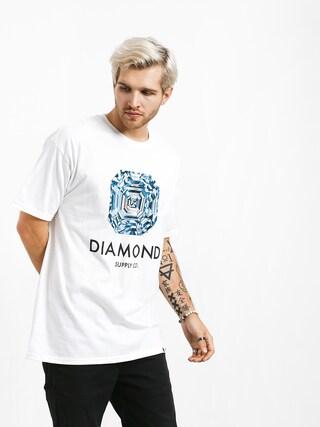 T-shirt Diamond Supply Co. Asscher Cut (white)