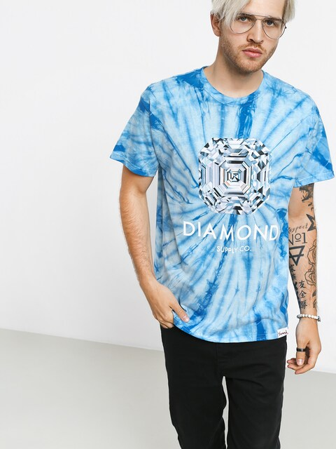 T-shirt Diamond Supply Co. Asscher Cut Tie Dye
