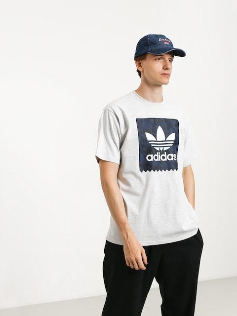 T-shirt adidas Bb Print 1 (light grey heather/black/collegiate navy/white)