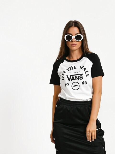 T-shirt Vans Attendance Ringer Wmn (white/black)