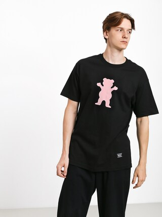 T-shirt Grizzly Griptape Og Bear (black/pink)