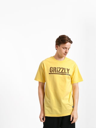 T-shirt Grizzly Griptape Stamp (banana/brown)