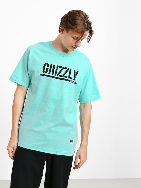 T-shirt Grizzly Griptape Stamp (miny/black)