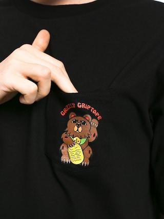 T-shirt Grizzly Griptape Lucky Bear Pocket (black)