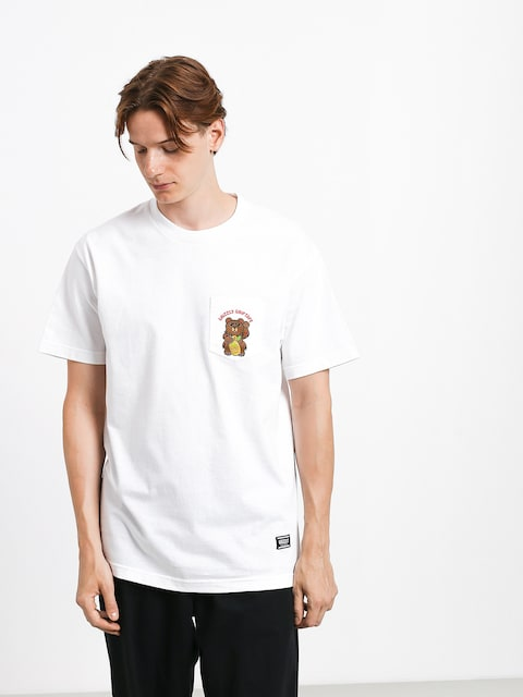 T-shirt Grizzly Griptape Lucky Bear Pocket (white)