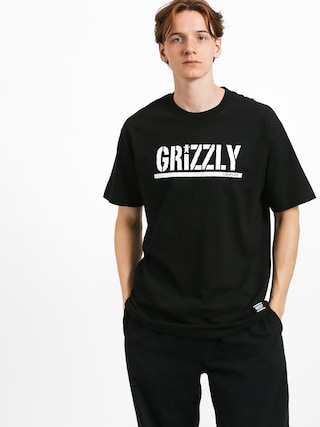 T-shirt Grizzly Griptape Stamp (black/white)