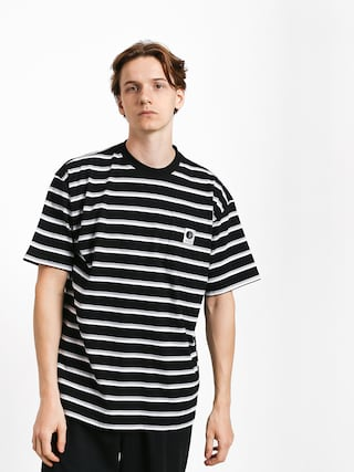 T-shirt Polar Skate Stripe Pocket (black)