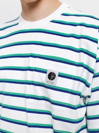 T-shirt Polar Skate Stripe Pocket (white)