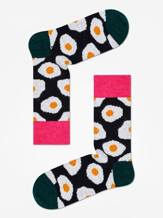 Skarpetki Happy Socks Wool Sunny Side Up (black/dark green)