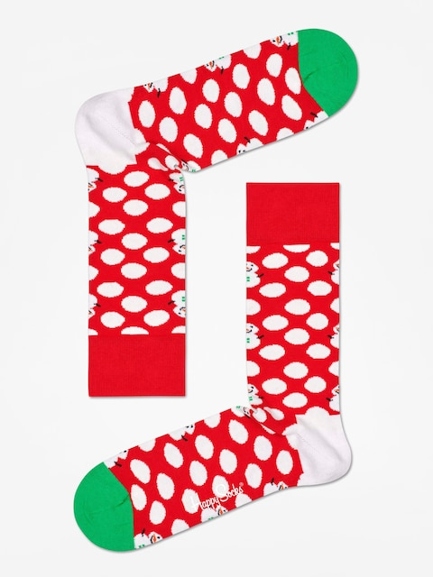 Skarpetki Happy Socks Big Dot Snowman (red/white)