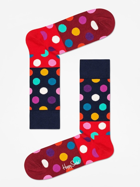 Skarpetki Happy Socks Big Dot Block (navy/red/maroon)