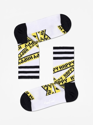 Skarpetki Happy Socks Athletic Ribbon Mid High (white/black)