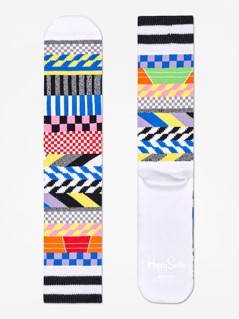 Skarpetki Happy Socks Athletic Checked Stripe (white/multi)
