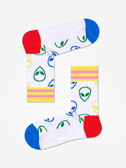 Skarpetki Happy Socks Athletic Alien Mid High (white)