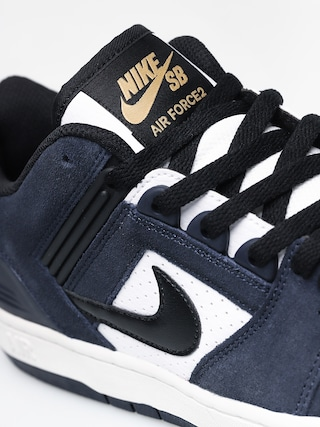 Buty Nike SB Air Force II Low (obsidian/black white celestial gold)