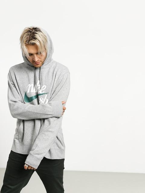 Bluza z kapturem Nike SB Washed Icon HD (dk grey heather/summit white/bicoastal)