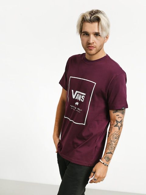 T-shirt Vans Print Box (prune/white)