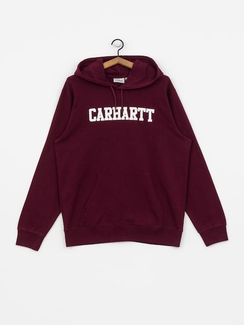 Bluza z kapturem Carhartt WIP College HD (merlot/white)
