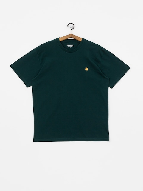 T-shirt Carhartt WIP Chase (dark fir/gold)