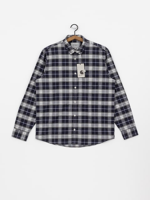 Longsleeve Carhartt WIP Linville (linville check blue/wax)