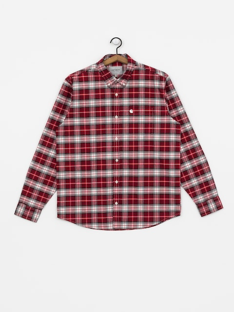 Longsleeve Carhartt WIP Linville (linville check cardinal/wax)