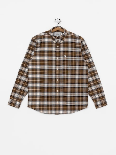 Longsleeve Carhartt WIP Linville (linville check hamilton brown/wax)