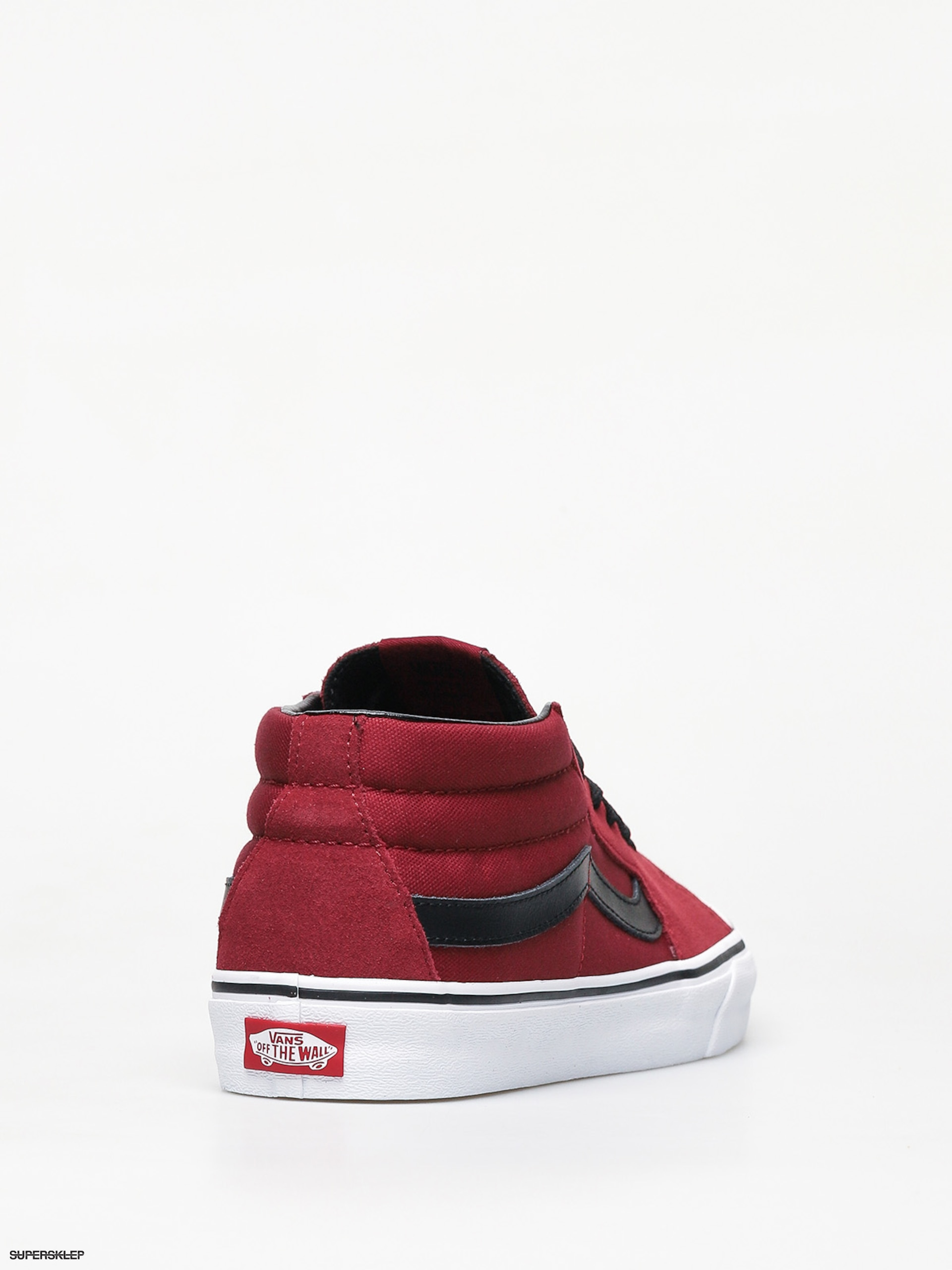 Vans Sk8 Mid Shoes (biking redtrue white)