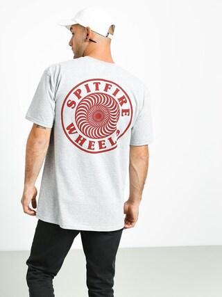 T-shirt Spitfire Og Circle Outline (athletic heather/maroon)