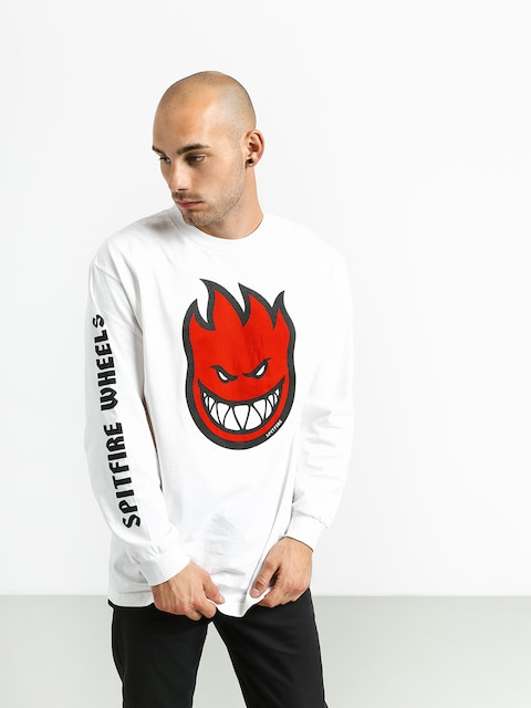 Longsleeve Spitfire Bighead Fill Hombre (white/black/red)