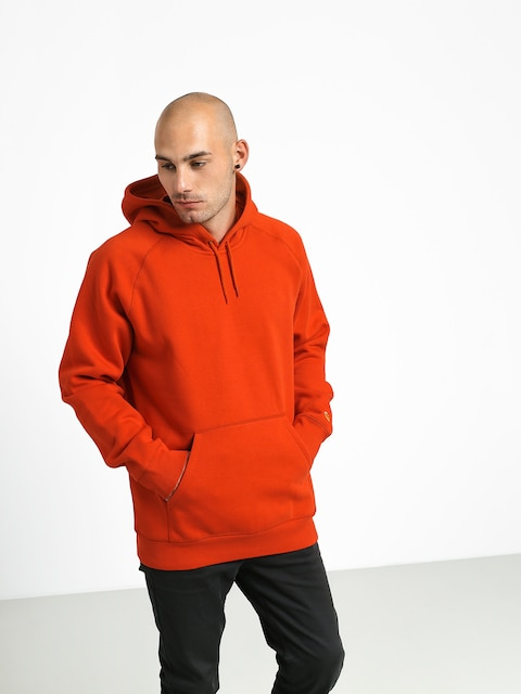 Bluza z kapturem Carhartt WIP Chase HD (brick orange/gold)