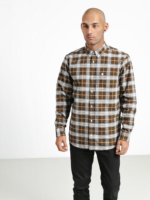 Koszula Carhartt WIP Linville (linville check hamilton brown/wax)