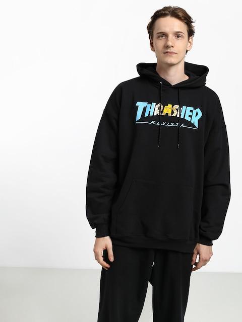 Bluza z kapturem Thrasher Argentina HD (black)