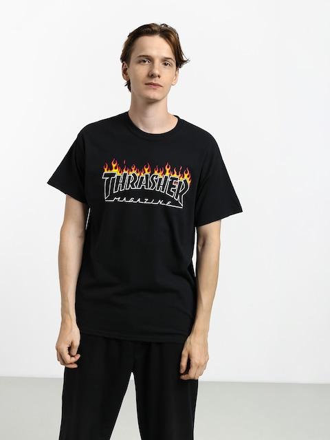 T-shirt Thrasher Scorched Outline (black)