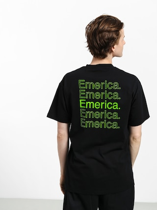 T-shirt Emerica New Stack (black/green)