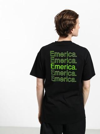 T-shirt Emerica New Stack (black/green)
