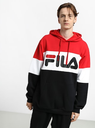Bluza z kapturem Fila Night Blocked HD (true red/black/bright white)