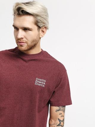 T-shirt Emerica New Stack (burgundy)