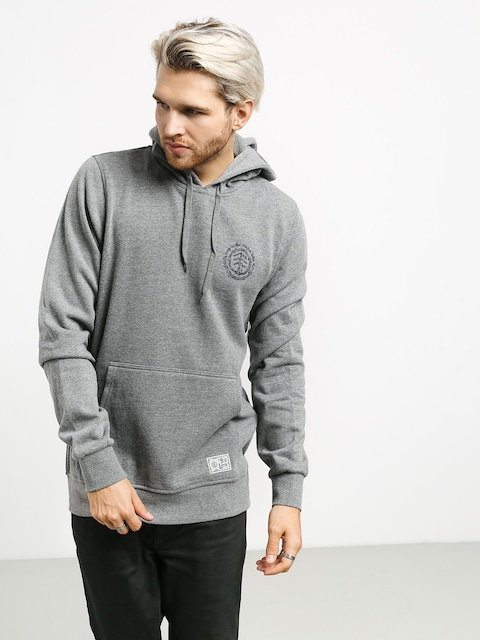 Bluza z kapturem Element Too Late Logo HD (grey heather)