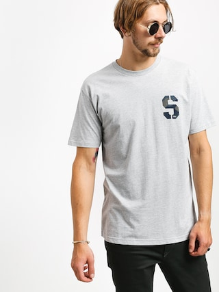 T-shirt Supra Stencil (grey heather/geo camo)