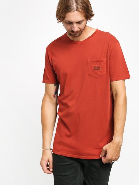 T-shirt Quiksilver Above The Lip (burnt brick)