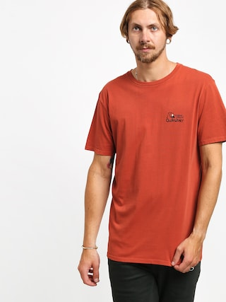 T-shirt Quiksilver Bouncing Heart (burnt brick)