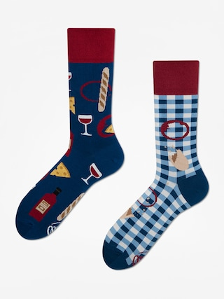 Skarpetki Many Mornings Bonjour France (navy/maroon)