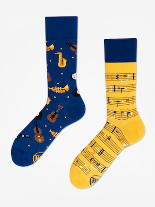 Skarpetki Many Mornings Music Notes (blue/yellow)