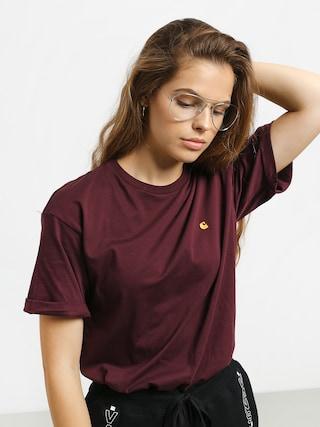 T-shirt Carhartt WIP Chasy Wmn (merlot/gold)