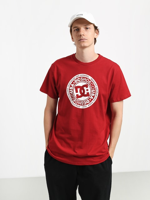 T-shirt DC Circle Star (chili pepper/white)